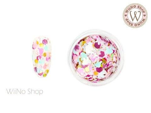 Bunny Star Hexagon Mixed Glitter (BS01)
