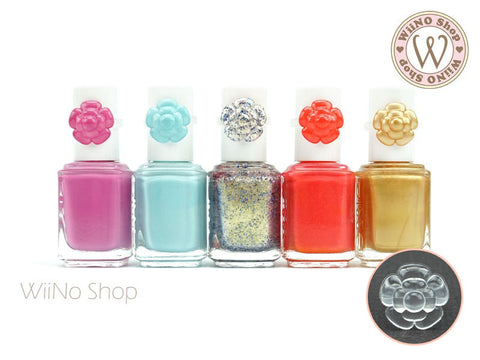 Flower Nail Polish Color Display Ring - 20 pcs