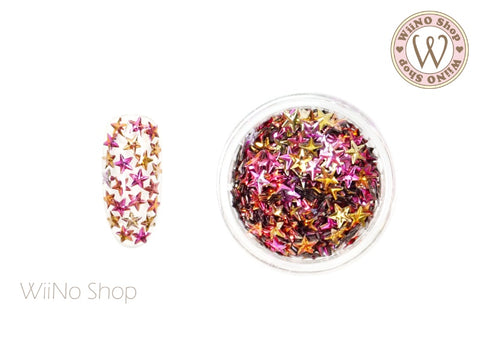4mm 3D Fuchsia Ombre Star Glitter (KS4-02)