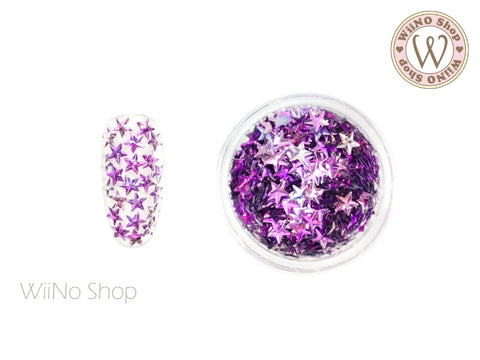 4mm 3D Purple Ombre Star Glitter (KS4-03)