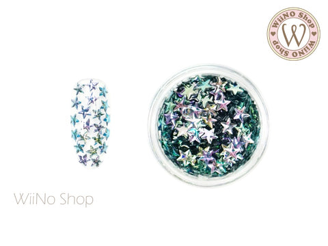 4mm 3D Blue Ombre Star Glitter (KS4-04)
