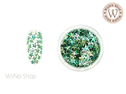 4mm 3D Green Ombre Star Glitter (KS4-05)