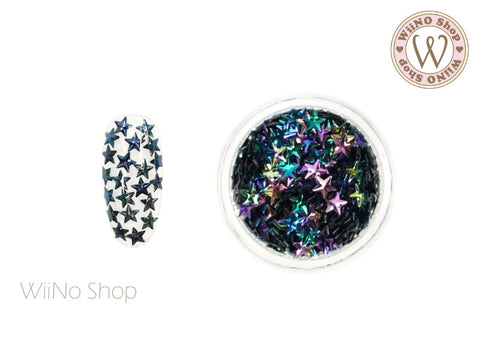 4mm 3D Dark Ombre Star Glitter (KS4-06)