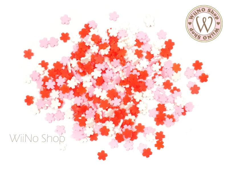 Cherry Blossom Mixed Polymer Fimo Slices Nail Art Decoration