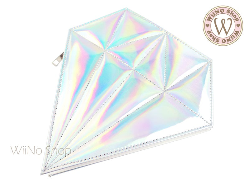 Holographic Diamond Makeup Brush Bag