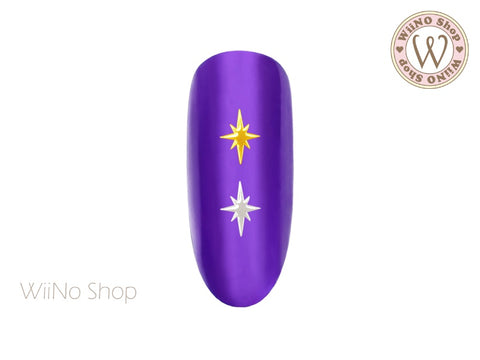 Pole Star Ultra Thin Nail Art Metal Decoration - 25 pcs