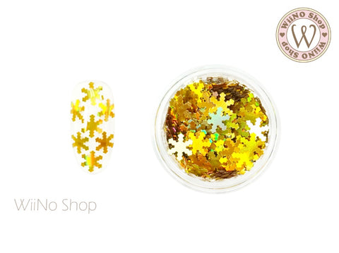Gold Holographic Snowflake Glitter (SN07)