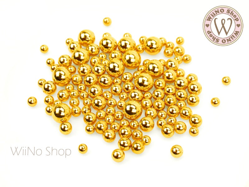 Gold Chrome Beads (4/5/6/8mm)