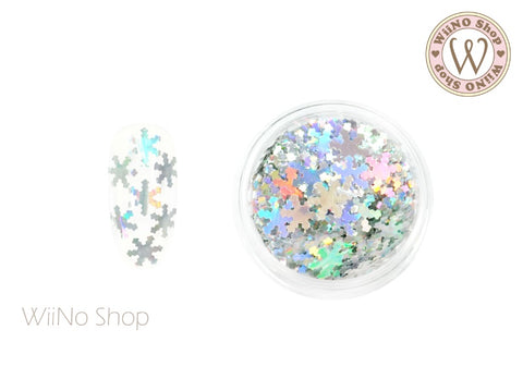 Silver Holographic Snowflake Glitter (SN08)