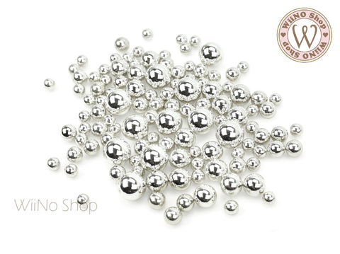 Silver Chrome Beads (4/5/6/8mm)