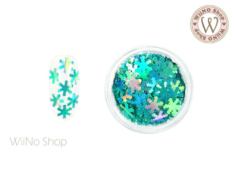 Turquoise Holographic Snowflake Glitter (SN09)