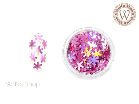 Magenta Pink Holographic Snowflake Glitter (SN10)