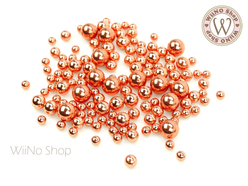 Rose Gold Chrome Beads (4/5/6/8mm)