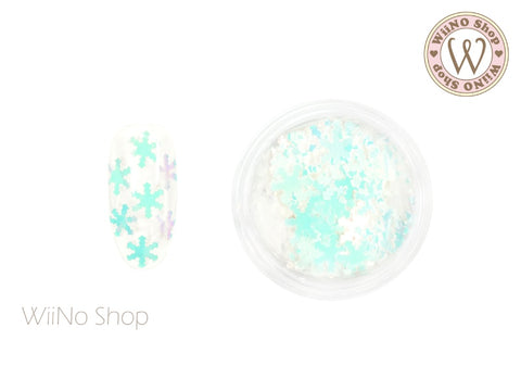 Blue Dream White Snowflake Glitter (SN11)
