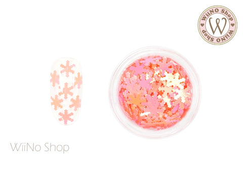 Peach Pink Candy Snowflake Glitter (SN12)