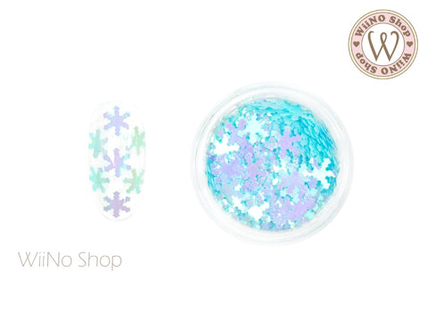 Light Blue Candy Snowflake Glitter (SN13)