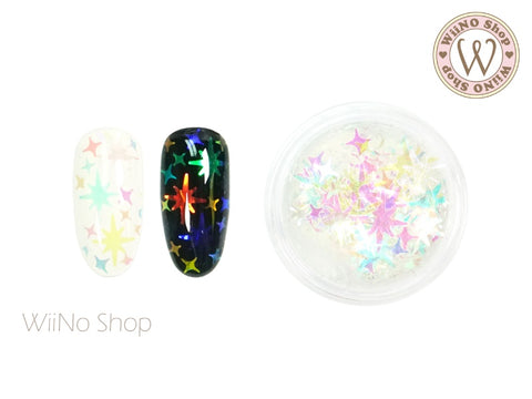 Rainbow Clear Pole Star Cross Star Mixed Glitter (CHP02)