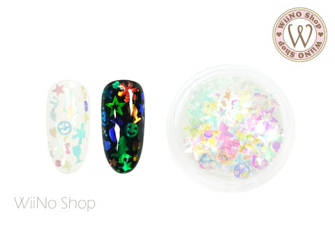 Rainbow Clear Winter Party Mixed Glitter (FM03)