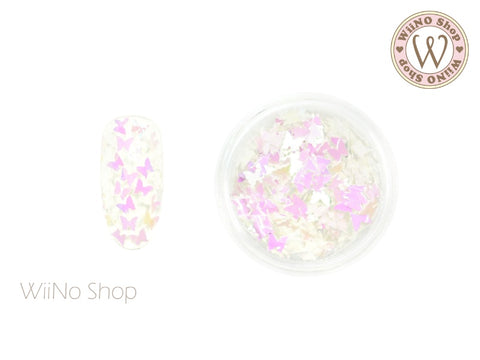 Pink Dream White Butterfly Glitter (BF07)