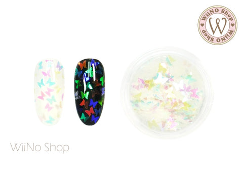 Rainbow Clear Butterfly Glitter (BF11)