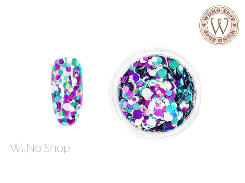 Round Dots Mixed Glitter (RM09)