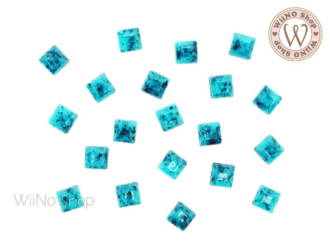 5mm Square Light Turquoise Cabochon- 15 pcs