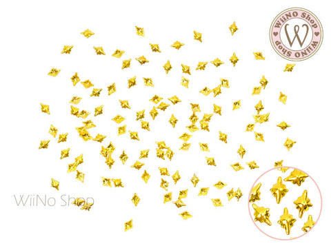 Gold Mini Shine Star Metal Studs - 10 pcs