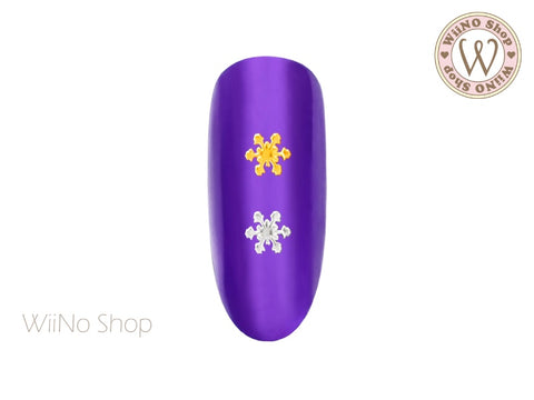 Dazzle Snowflake Ultra Thin Nail Art Metal Decoration - 25 pcs