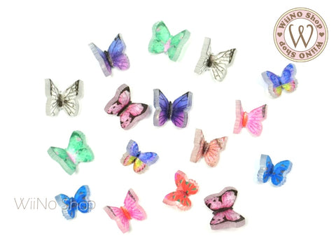 3D Butterfly Nail Art Decorations - 10 pcs