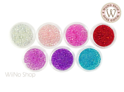 AB Bubble Glass Beads