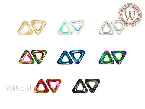 10mm Triangle Hollow Ring Crystal - 2 pcs