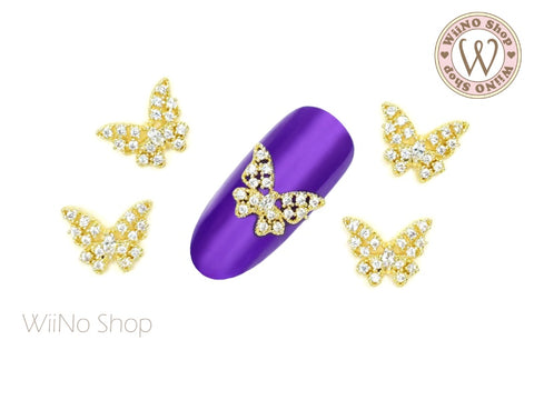 Butterfly Crystal Nail Jewelry Charm - 2 pcs