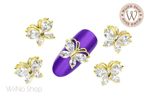 Diamond Butterfly Crystal Nail Jewelry Charm - 2 pcs