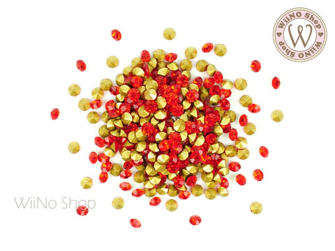 ss12 Red Round Point Back Crystal - 50 pcs