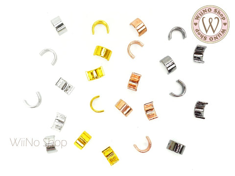 U Buckle Ring Metal Decoration - 5 pcs
