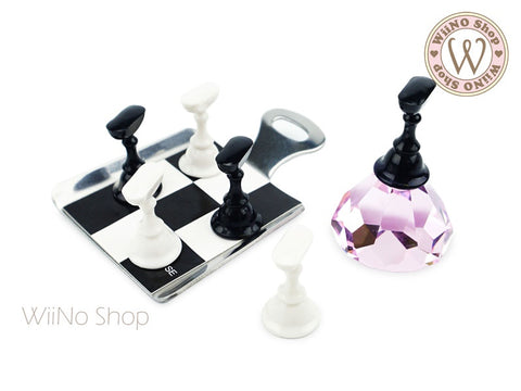 Chess Nail Tips Display Practice Stand