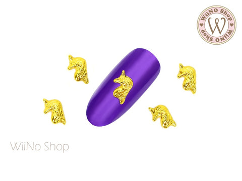 Unicorn Head Nail Metal Charm - 2 pcs