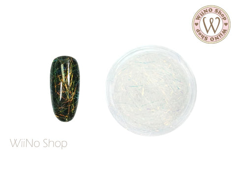 Fire Opal Clear Spectrum Fiber Nail Art Decoration