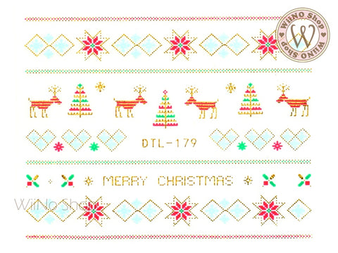 Christmas Sweater Pattern Nail Art Sticker - 1 pc (DTL-179G)