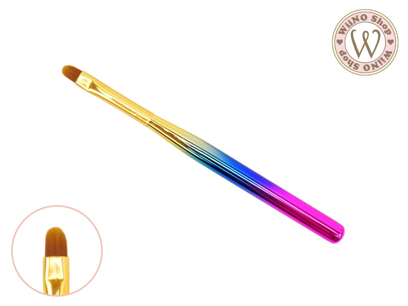 Round Nail Art Gel Brush / Chrome Ombre - 1 pc