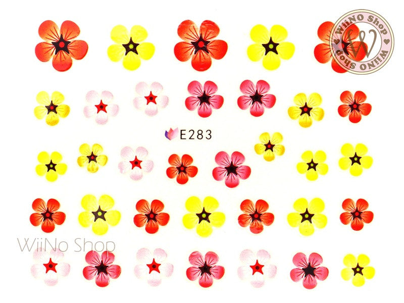 E283 Five Petal Flower Adhesive Nail Sticker - 1 pc