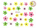 E284 Five Petal Flower Adhesive Nail Sticker - 1 pc