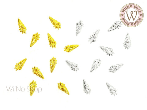Cerith Seashell Metal Studs - 10 pcs