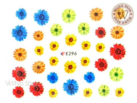 E296 Daisy Flower Adhesive Nail Sticker - 1 pc