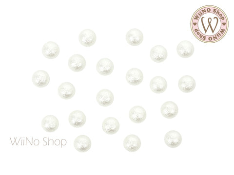 White Textured Half Round Pearl (4/5mm)