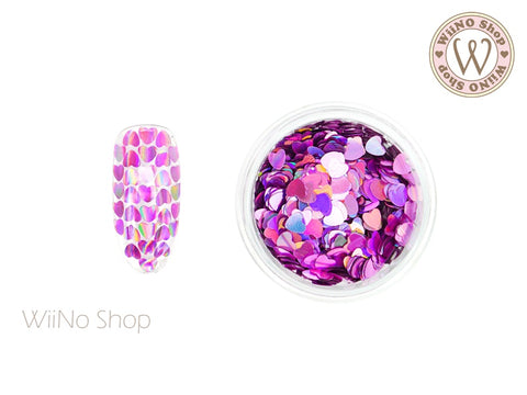 3mm Magenta Pink Holographic Heart Glitter