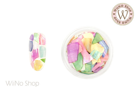 Colorful Crushed Shell Chips Nail Art Decoration