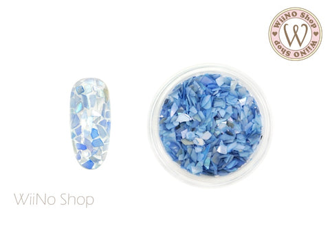 Blue Mosaic Crushed Shell Nail Art Decoration