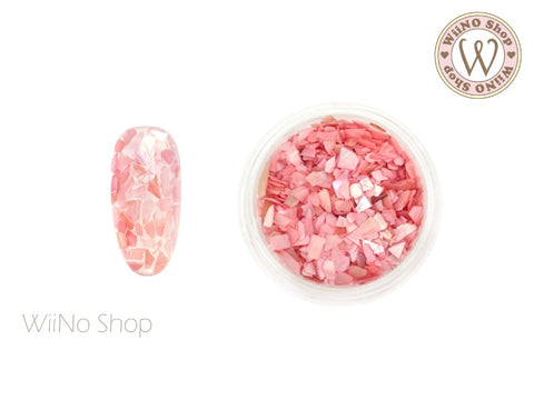 Light Rose Mosaic Crushed Shell Nail Art Decoration