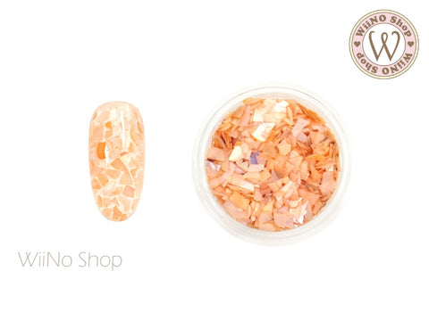 Peach Mosaic Crushed Shell Nail Art Decoration